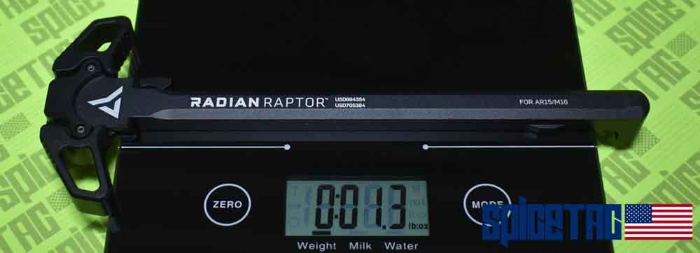 Original Raptor Charging Handle Actual Scale Weight