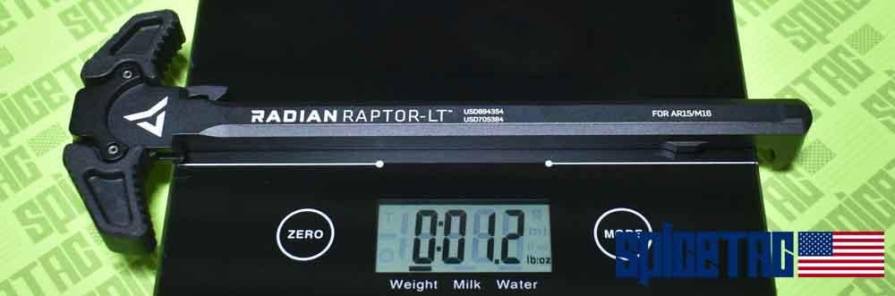 Raptor LT Charging Handle Actual Scale Weight