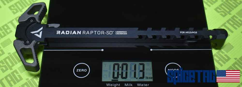 Raptor SD Charging Handle Weight